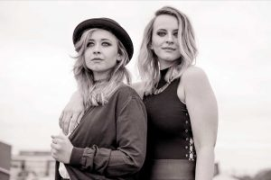 Lauren and Sheridan promotional black and white image